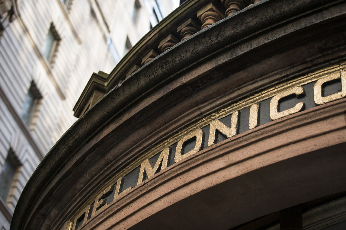 Delmonico's is one of the legendary fine dining establishments in the neighborhood