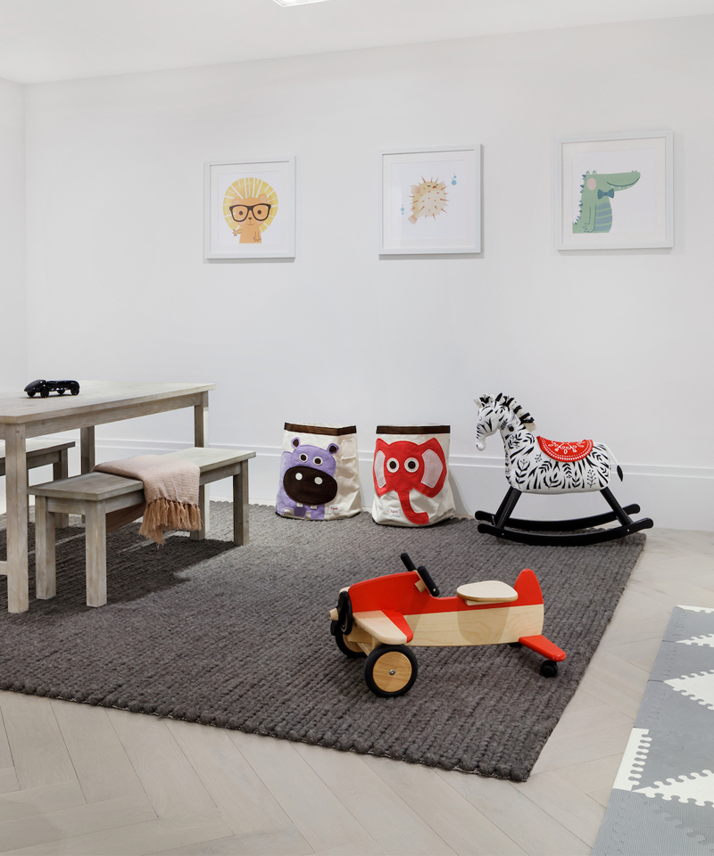 An engagingly designed and accessorized Children's Playroom is ideal for young residents.